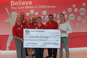 Presentation Check for $3,500 to Joe DiMaggio Children's Hospital